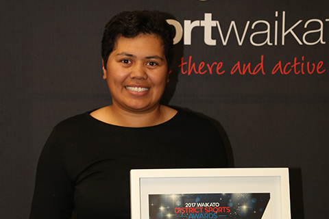 Women's Golfer Chantelle Cassidy named as Sportsperson of the Year at the Waikato District Awards