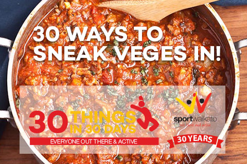 30 Ways to sneak veggies into a meal