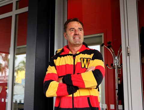 Matthew Cooper will be rocking the 'Waikato Onesie' for Drop Your Boss!